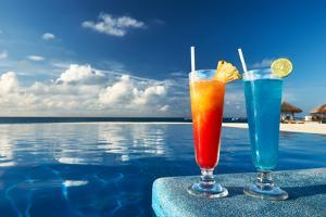 Cocktails Near The Swimming Pool by haveseen