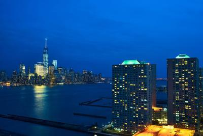 New York City Manhattan Skyline with One World Trade Center Tower (Aka Freedom Tower) over Hudson R by haveseen