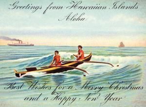 Hawaii, Outrigger, Christmas Greeting