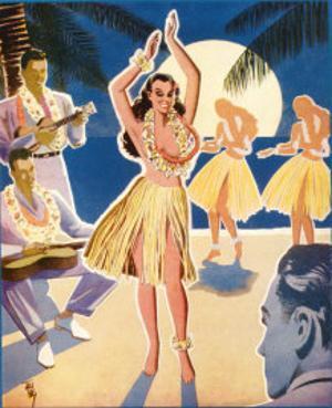 Hawaiian Blue Room, Hula Dance