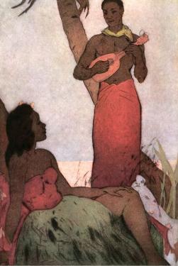 Hawaiian Couple, Man with Ukulele