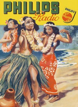 Hawaiian Hula Dancers - Philips Radio