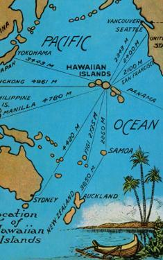 Maps of hawaii posters for sale at allposters hawaiian islands map c1920s gumiabroncs Gallery