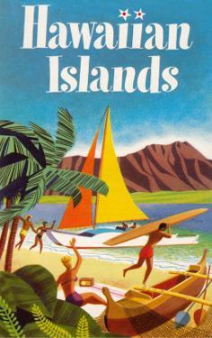 Hawaiian Islands Poster