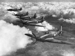 Hawker Hurricanes in Flight