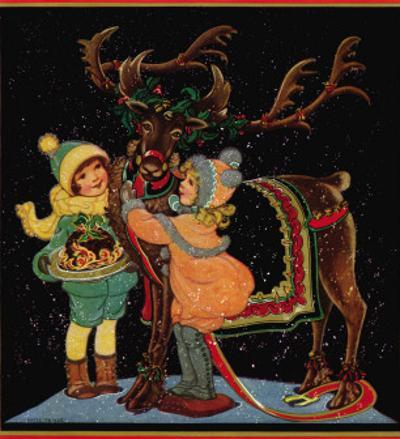 Dressing the Reindeer - Child Life, December 1925
