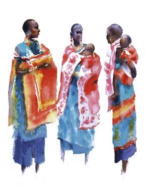Three Maasai Women by Hazel Soan