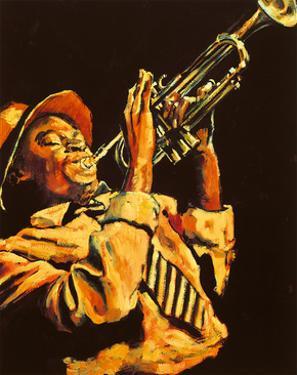 Trumpet Player by Hazel Soan