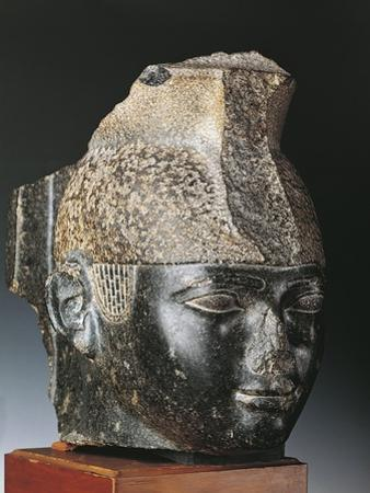 Head of King Taharka from Thebes