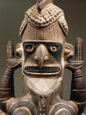 Head of Uli, Wood Carving, Height 150 Cm, New Ireland, Papua New Guinea, 18th-19th Century, Detail
