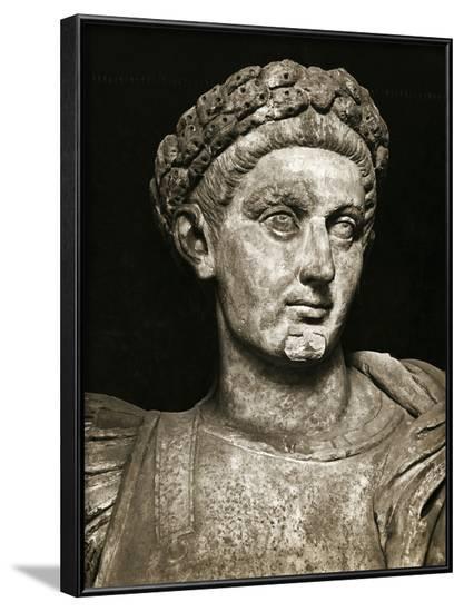 Head/Shoulders Sculpture of Constantine--Framed Photographic Print