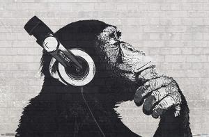 HEADPHONES CHIMP - WALL