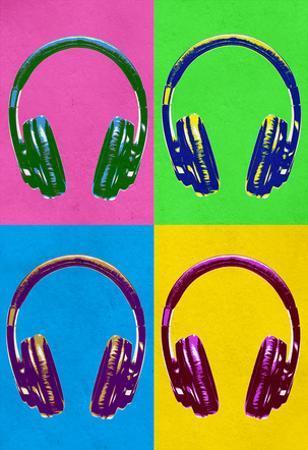 Headphones Pop Art Poster
