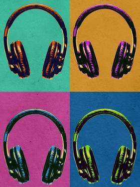 Headphones Vintage Style Pop Art Poster