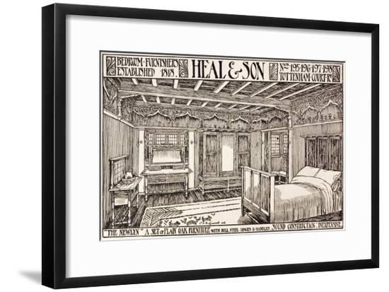 Heal and Son Arts and Crafts Advertisement--Framed Giclee Print