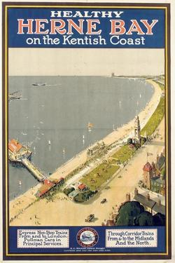 Healthy Herne Bay on the Kentish Coast', Poster Advertising Southern Railway
