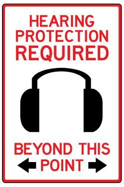 Hearing Protection Required Past This Point Sign Poster
