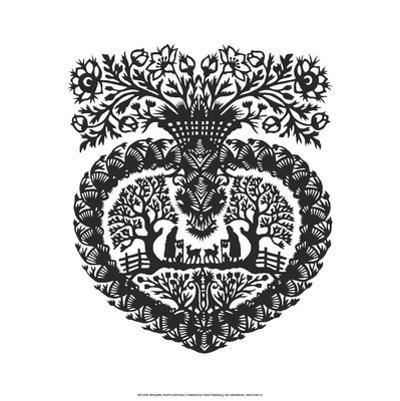 Heart of Nature , Folk Art Silhouette