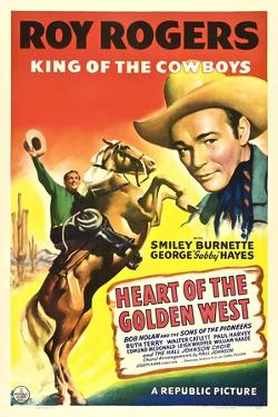 HEART OF THE GOLDEN WEST, Roy Rogers, 1942.