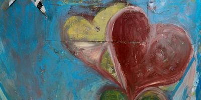 Heart shape painted on a wall, Safed (Zfat), Galilee, Israel