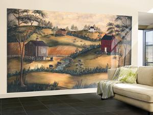 Heartland With Scenic Pastureland Huge Mural Art Print Poster