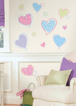 Hearts Peel & Stick Wall Decals