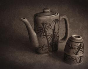 Teapot and Cups by Heather Jacks