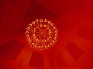 A Skyward View of a Chandelier by Heather Perry