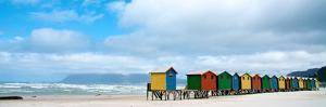 Brightly Colored Beach Huts at Fish Hoek on False Bay by Heather Perry