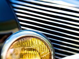 Close Up of the Grill and Headlight of a 1940 Mercury Eight Car by Heather Perry