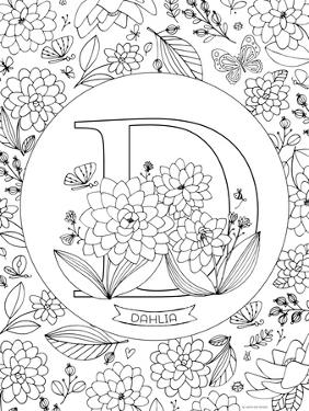 D is for Dahlia by Heather Rosas