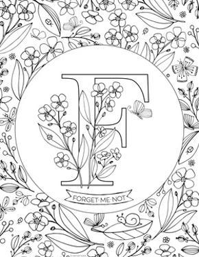 F is for Forget Me Not by Heather Rosas