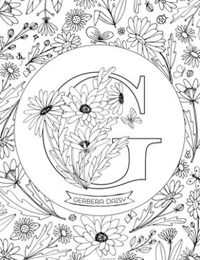 G is for Gerbera Daisy by Heather Rosas