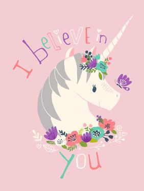 I Believe in You on Pink by Heather Rosas