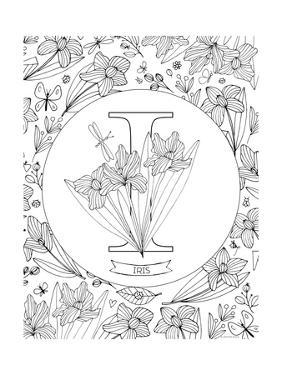 I is for Iris by Heather Rosas