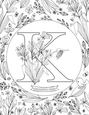 K is for Kangaroo Paws by Heather Rosas