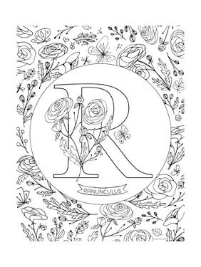 R is for Ranunculus by Heather Rosas