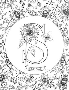 S is for Sunflower by Heather Rosas