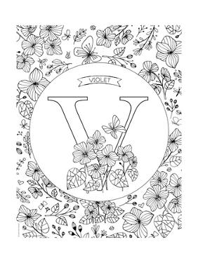 V is for Violet by Heather Rosas