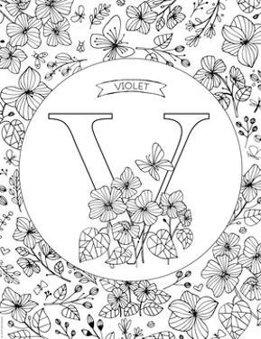 V is for Violet by Heather Rosas