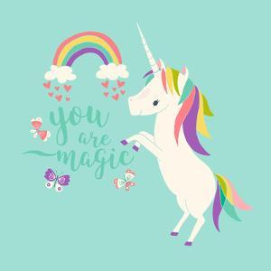 You are Magic - Rainbow and Unicorn by Heather Rosas