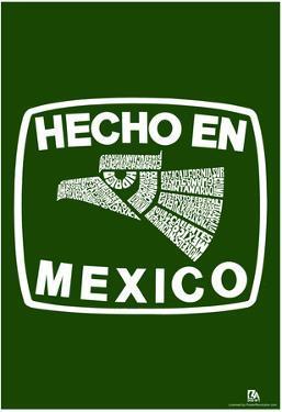 Hecho En Mexico Cities Text Poster