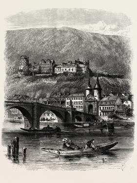 Heidelberg, from the River, the Rhine, Germany, 19th Century