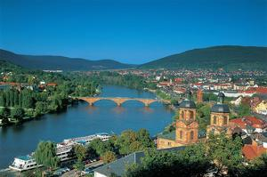 Heidelberg on the river Rhine
