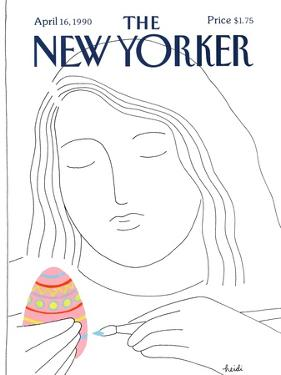 The New Yorker Cover - April 16, 1990 by Heidi Goennel