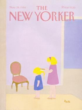 The New Yorker Cover - November 24, 1986 by Heidi Goennel