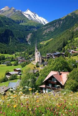 Heiligenblut at Grossglockner High Alpine Road with view towards Grossglockner