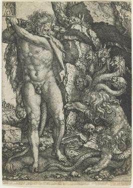 Hercules Destroys the Lernaean Hydra, 1550 by Heinrich Aldegrever
