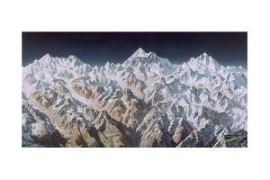 Painting of the Himalaya Mountains by Heinrich Berann