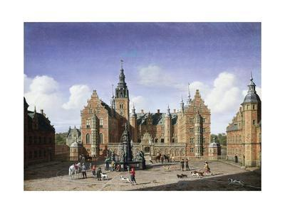 Frederiksborg Castle, the Departure of the Royal Falcon Hunt